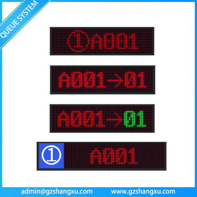 OEM Dot Matrix LED Counter Display Unit For Queue Management System