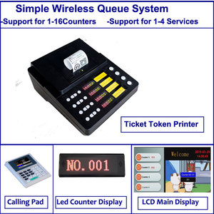 simple 4 service button wireless Queue Token Number System