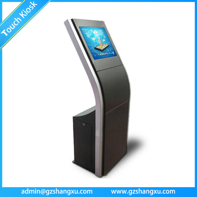 OEM Free Standing Interactive Touch Screen Advertising Information Kiosk