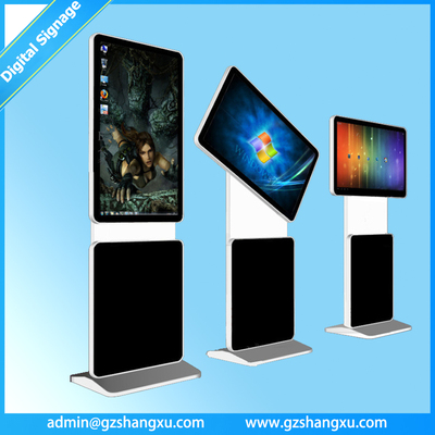 42 inch free standing rotating screen full HD advertising digital signage Kiosk