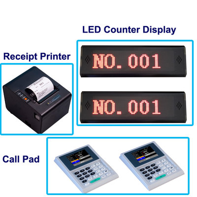 Single Service Wireless Queue Management System with token printer and led display