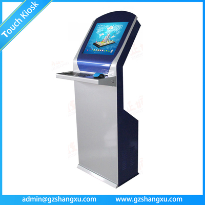 Bank/Government Self Service Touch Screen Information Kiosk with metallic Keyboard
