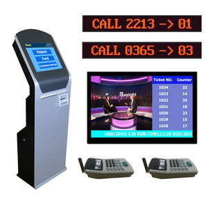 Custom design bank service counter led number Queue Ticket Management Display Token Number System
