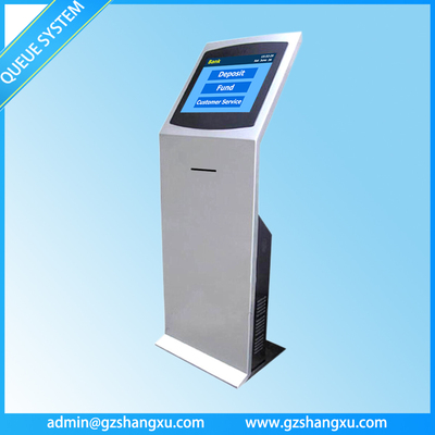 17 inch Automatic Queuing System Touch Screen Thermal Ticket Vending Machine