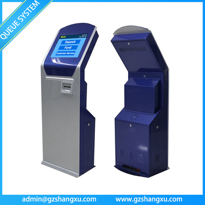 Bank/Hospital Queuing System Touch Screen Thermal Ticket Dispenser Kiosk